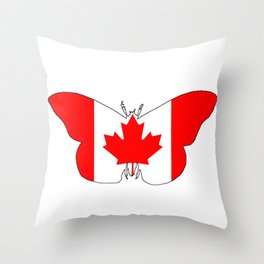 Canada Butterfly Throw Pillow