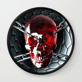 Skull and chain Wall Clock