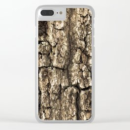 Florida Tree Bark Clear iPhone Case