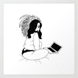 Attractive Laziness Art Print