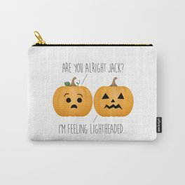 Lightheaded Jack-O-Lantern Carry-All Pouch