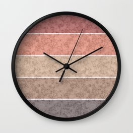 Pink and gray marble striped pattern . Wall Clock
