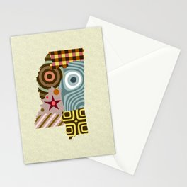 Mississippi State Map Stationery Cards