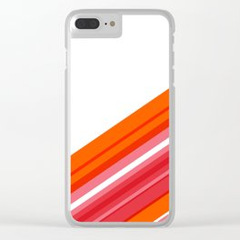 Tangerine Abstract Clear iPhone Case