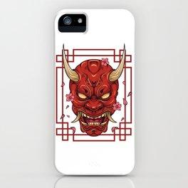 Japanese Art Oni Mask Demon Harajuku Devil T-Shirt iPhone Case