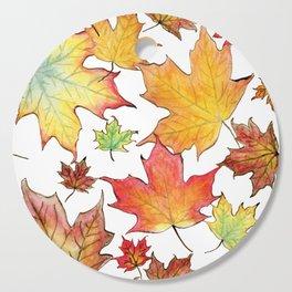 Autumn Maple Leaves Cutting Board