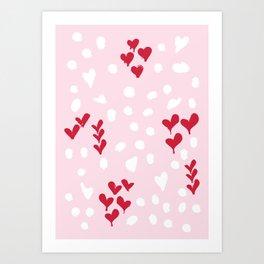 giving hearts gving hope: animal print Art Print