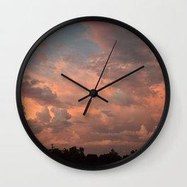 Pretty clouds in Oregon Wall Clock
