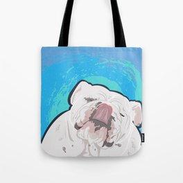 Bulldog Slurp Tote Bag
