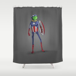 Captain Kermit Shower Curtain