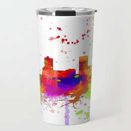 Anchorage, Alaska Skyline - Line & Ink 3 Travel Mug