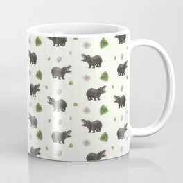 Hippos and Flowers Coffee Mug