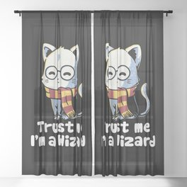 Trust me I'm a wizard Sheer Curtain