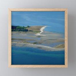 Island Flyover Framed Mini Art Print