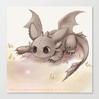 toothless Canvas Prints featuring Toothless by Sunny