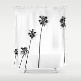 Black + White Palms Shower Curtain