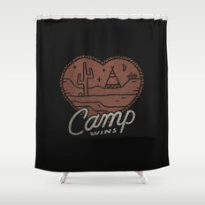 Camp Wins Shower Curtain