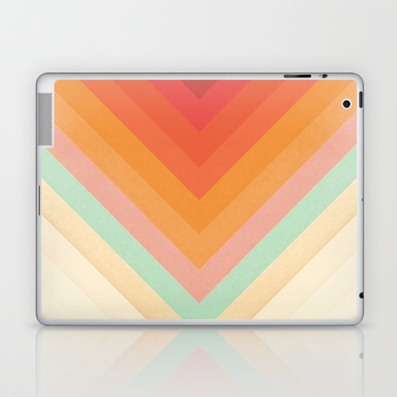 Rainbow Chevrons Laptop & iPad Skin
