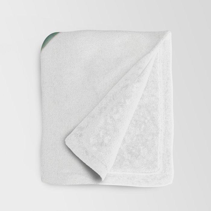 Pink Leaves II Throw Blanket