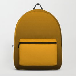 Pale Pumpkin Orange and Black Deadly Ombre Nightshade Backpack