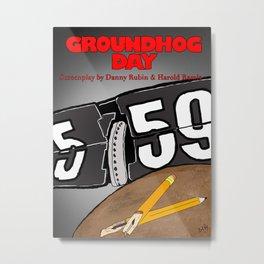 Groundhog Day Movie Poster Metal Print