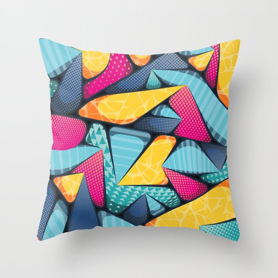 SUPER-MIA-POP • Portrait Detail Throw Pillow