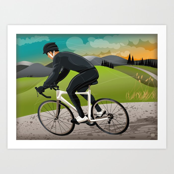 Road Cyclist Art Print