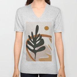 Abstract Plant Life I Unisex V-Neck