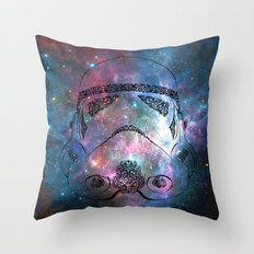 Soldier galaxy Throw Pillow