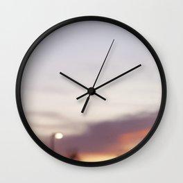 Fuzzy sunset Wall Clock
