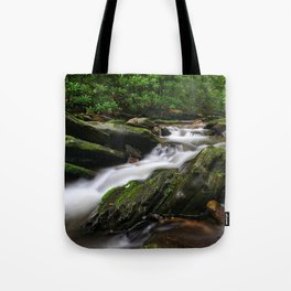 Rushing By Tote Bag