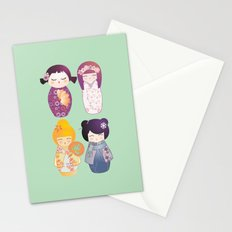 Kokeshis four seasons Stationery Cards