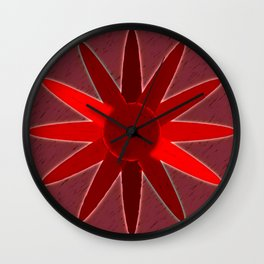 flow of red Wall Clock