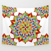 manchester Wall Tapestries featuring Manchester Mandala by Patricia Shea Designs
