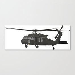 Black Hawk UH-60 Military Helicopter Canvas Print
