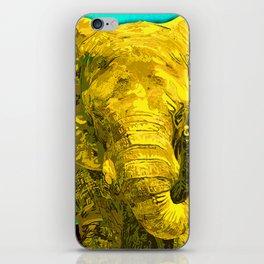 Sunshine Yellow Elephant art iPhone Skin