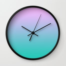 Pink Teal Ombre Gradient Summer Pattern Wall Clock
