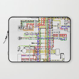 Colorful electric scheme Laptop Sleeve