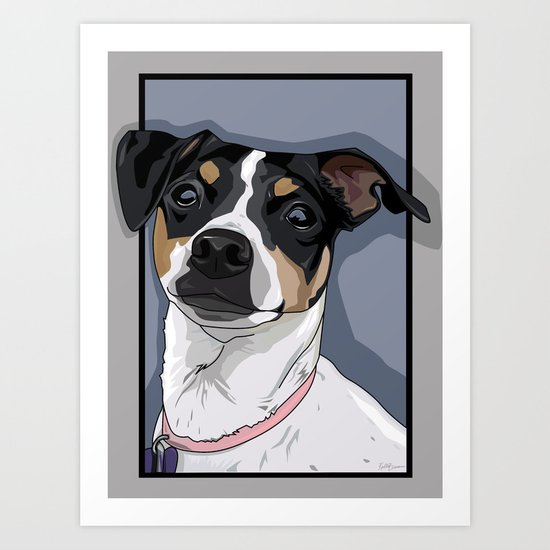 Hailey Dog Art Print