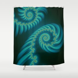 Entering the Vortex - Fractal Art Shower Curtain