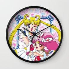 Sailor Moon And Chibi Moon Wall Clock