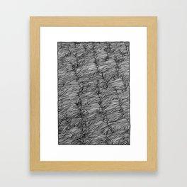 The river fell under us... Framed Art Print