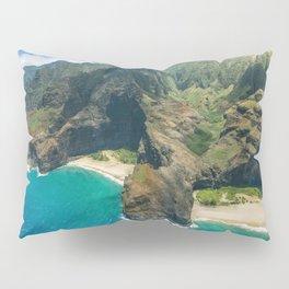 Aerial view Na Pali Coast, Kauai, Hawaii Pillow Sham
