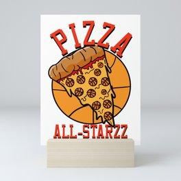 Pizza All-Starzz Mini Art Print
