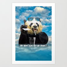 hey man ! Art Print