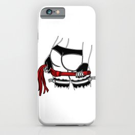 mistress dominatrix whip stockings thong bdsm Bondage iPhone Case