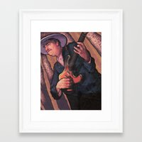 bob dylan Framed Art Prints featuring Bob Dylan by Jacob Sanders