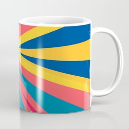 Geometric zig zag abstract lines in vivid colours Coffee Mug