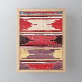 Nevsehir Cappadocian Central Anatolian Kilim Print Framed Mini Art Print