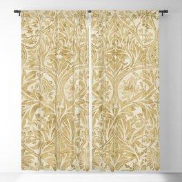 William Morris Vintage Bluebell Gold & Vellum Blackout Curtain